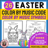 Easter Music Coloring Sheets: Music Coloring Pages