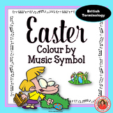 EASTER Colour by Music Symbols British Terminology