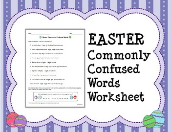 EASTER Commonly Confused Words Worksheet