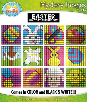 EASTER Mystery Images Clipart {Zip-A-Dee-Doo-Dah Designs}