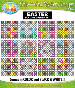 EASTER Dab-A-Dot Mystery Images Clipart {Zip-A-Dee-Doo-Dah