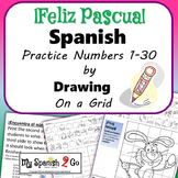 EASTER: Draw the Square in the Grid for Spanish #'s 1 to 30