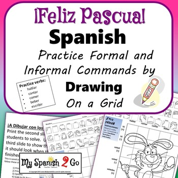 EASTER EDITION! SPANISH REGULAR COMMANDS Draw on Grid