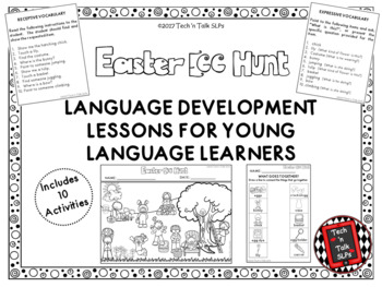 EASTER EGG HUNT Language Development Lessons for Young Lan