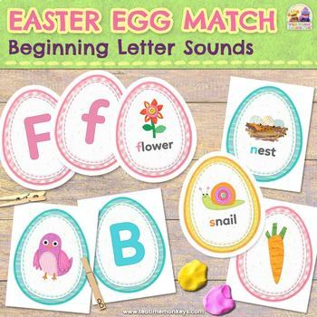 EASTER EGG MATCH: Beginning Letter Sounds