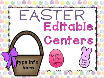 Easter Editable Center (Math and Language Arts)
