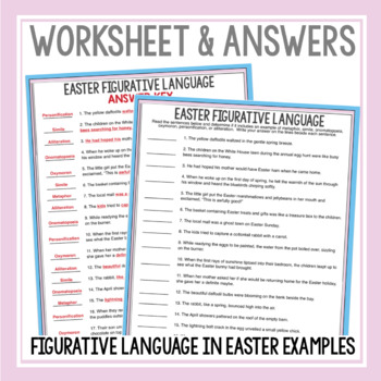 EASTER FIGURATIVE LANGUAGE