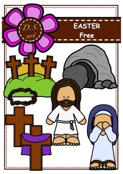 EASTER - FREE Clipart (color and black&white)