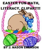 EASTER FUN MATH, LITERACY, CLIP ART (COMMON CORE, SOME SPANISH)