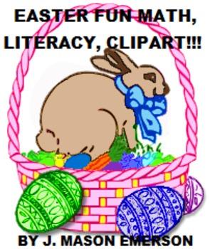Easter Fun Math Literacy Clip Art Common Core Some Spanish Tpt