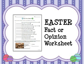 EASTER Fact or Opinion Worksheet