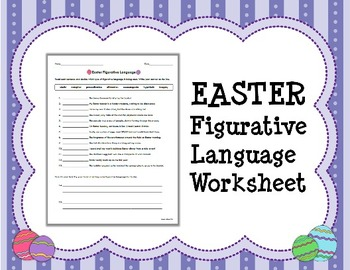 EASTER Figurative Language Worksheet
