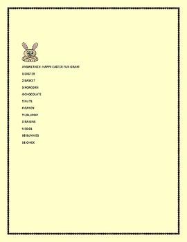 EASTER GRAM: A FUN VOCABULARY ACTIVITY, GRADES 3-6
