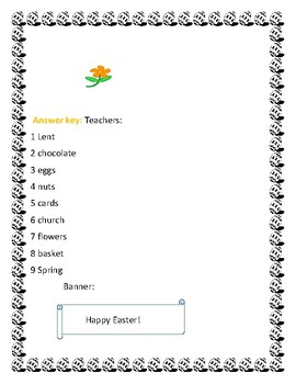 EASTER GRAM:   A  holiday- vocabulary deciphering activity! Have fun!