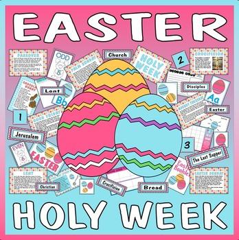 EASTER HOLY WEEK TEACHING RESOURCES EYFS KS 1-2 CHRISTIAN FESTIVAL JESUS