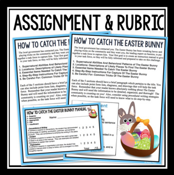 EASTER WRITING: HOW TO CATCH THE EASTER BUNNY