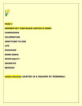 EASTER IS HERE! A VOCABULARY WORD JUMBLE CELEBRATION
