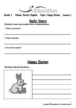 EASTER - Lesson 1 of 6 - Grade 1
