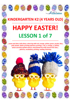 Easter Lesson 1 Of 7 Kindergarten 2 4 Years Old Tpt