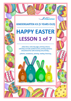 EASTER - Lesson 1 of 7 - Kindergarten 3 (5 Years Old)