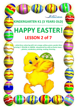 EASTER - Lesson 2 of 7 - Kindergarten 1 (3 Years Old)