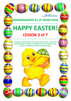 EASTER - Lesson 3 of 7 - Kindergarten 1 (3 Years Old)