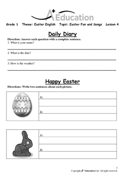 EASTER - Lesson 4 of 6 - Grade 1