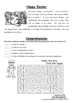 EASTER - Lesson 5 of 6 - Grade 1