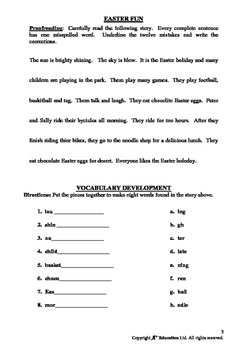 EASTER - Lesson 5 of 7 - Grades 3&4