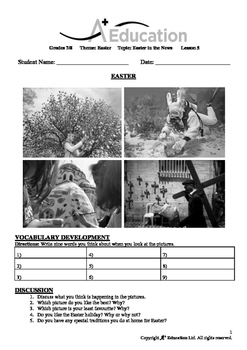 EASTER - Lesson 5 of 8 - Grades 7&8