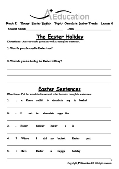 EASTER - Lesson 6 of 6 - Grade 2