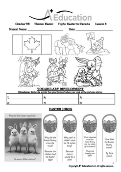 EASTER - Lesson 8 of 8 - Grades 7&8