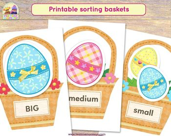 EASTER MATCHING CARDS: Colours, Numbers & Sizes