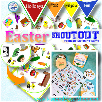 EASTER MATCHING GAME Shout Out & I Spy; Race to spot the match; Count in I Spy