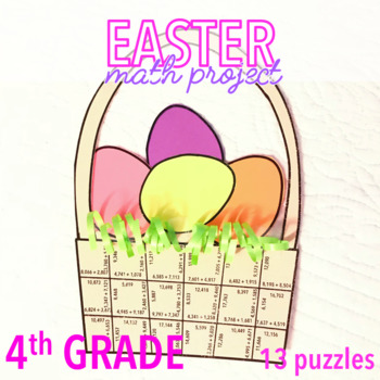 EASTER MATH ACTIVITIES - FOURTH GRADE EASTER BASKET