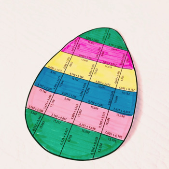 EASTER MATH ACTIVITIES - FOURTH GRADE EASTER EGG
