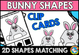 EASTER MATH CENTER (BUNNY SHAPES RECOGNITION CLIP CARDS)