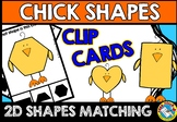 EASTER MATH ACTIVITIES (CHICK SHAPES RECOGNITION CLIP CARDS) EASTER KINDERGARTEN