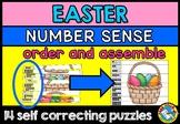 EASTER MATH CENTER (NUMBER SENSE ACTIVITY KINDERGARTEN PUZZLES)