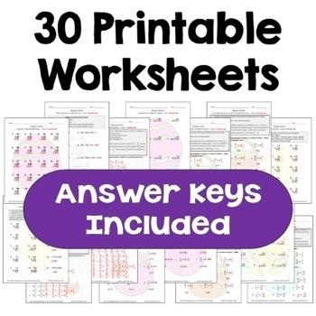 Easter Math Worksheet Bundle (3 Levels)