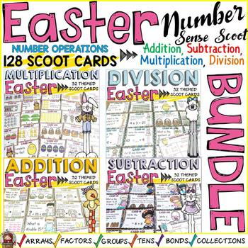 EASTER MATH SCOOT BUNDLE: ADDITION, SUBTRACTION, MULTIPLICATION, DIVISION