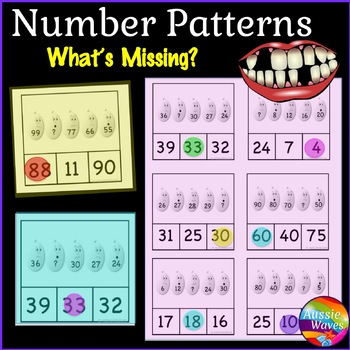 Printable Math Center Activity Completing Missing Number Patterns 0-100