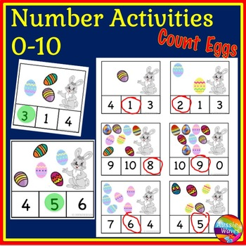 EASTER Math Center Activity Counting Numbers 0-10