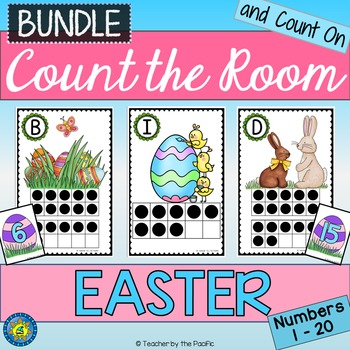 EASTER Math Center: Count the Room {BUNDLE}
