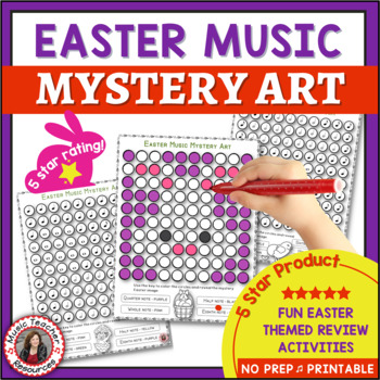 Easter Music Activities: EASTER Music Color by Note Pages: Music Coloring Pages