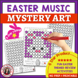 Easter Music Activities: 12 EASTER Mystery Art Music Color by Note Pages