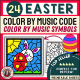 EASTER Music Coloring Sheets: 24 Color by Music Pages