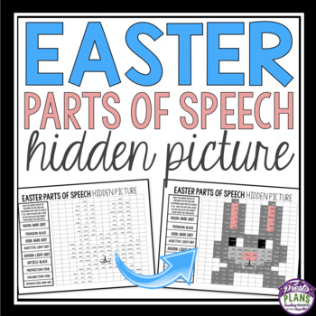 EASTER PARTS OF SPEECH: HIDDEN MYSTERY PICTURE
