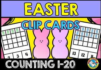 PRESCHOOL EASTER ACTIVITIES (KINDERGARTEN EASTER COUNTING CLIP CARDS) PEEPS