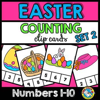 EASTER PRESCHOOL COUNTING CENTERS 1-10 (EASTER KINDERGARTEN COUNTING ACTIVITIES